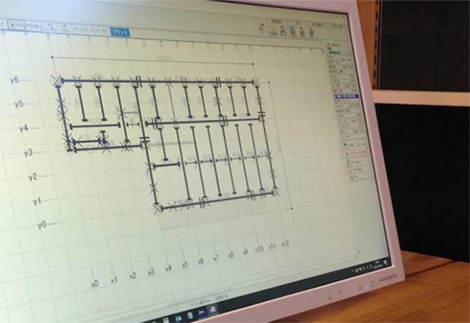構造計算に基づく構造材の指定