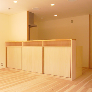 キッチン対面収納